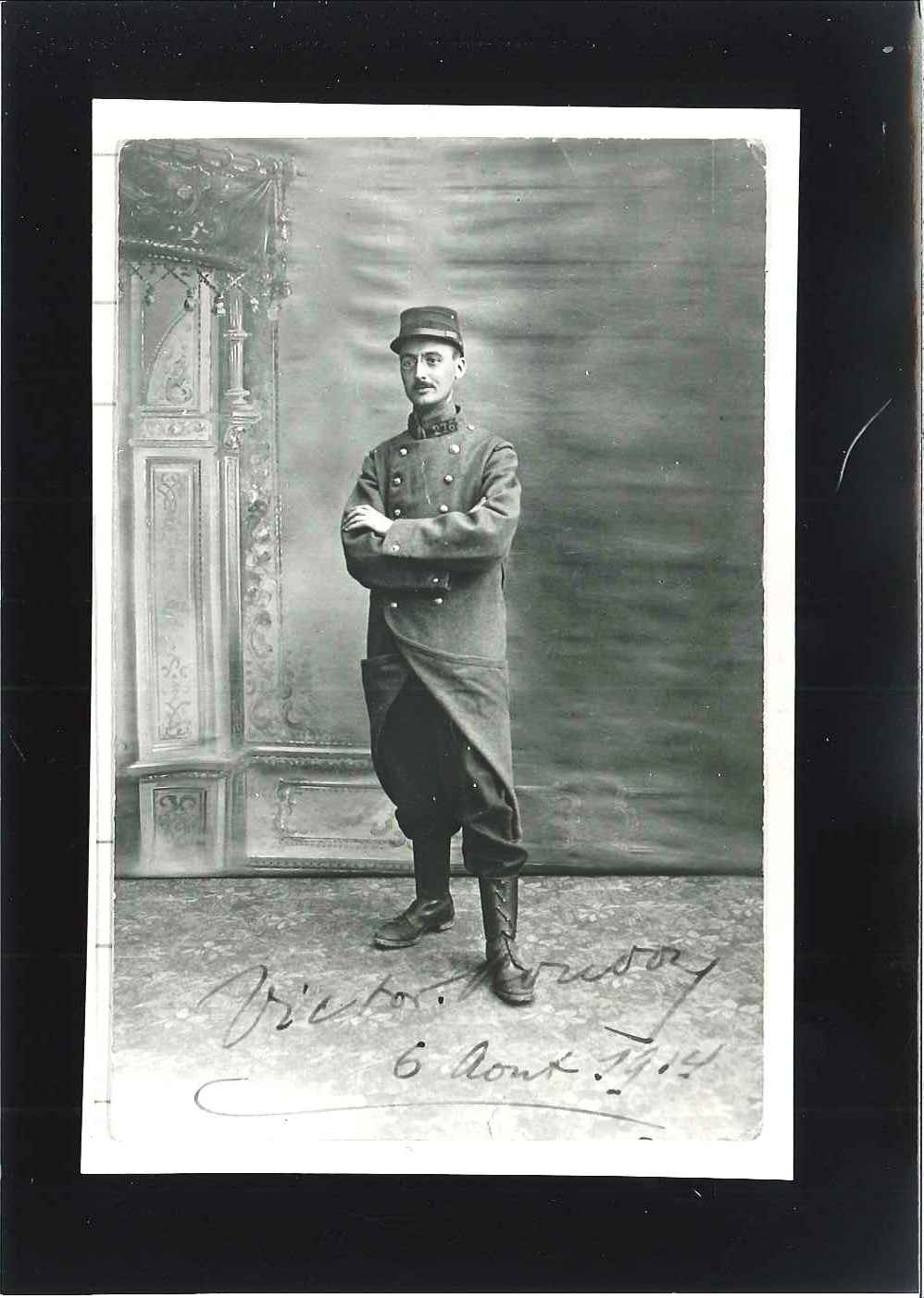 Victor Boudon le 4 août 1914 (Collection SAM2G)